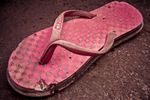 right red sandal