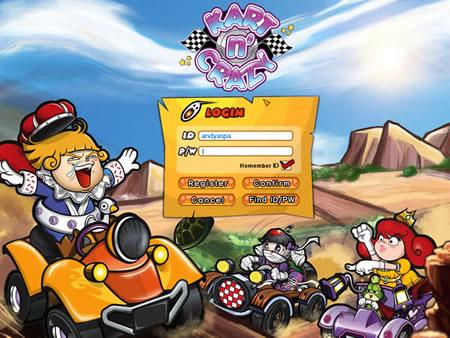 Kart n Crazy login page