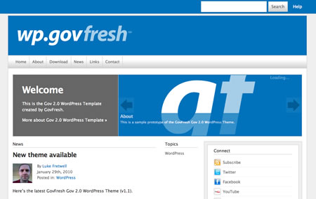 Free Gov 2.0 WordPress Theme
