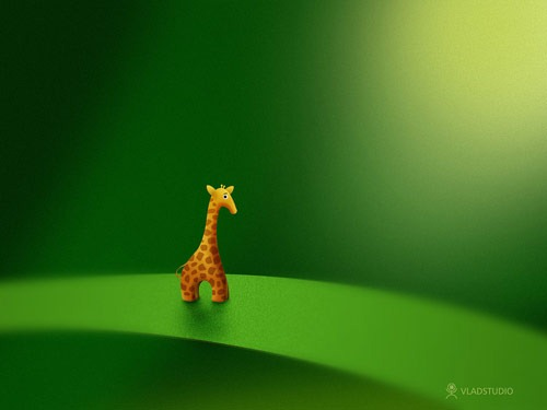 Micro_Animals___Giraffe_by_vladstudio