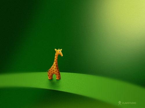 Micro_Animals___Giraffe_by_vladstudio