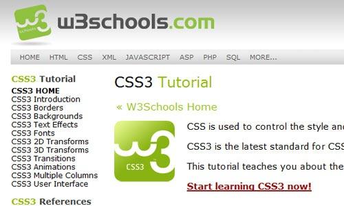 w3school-css3-tutorial