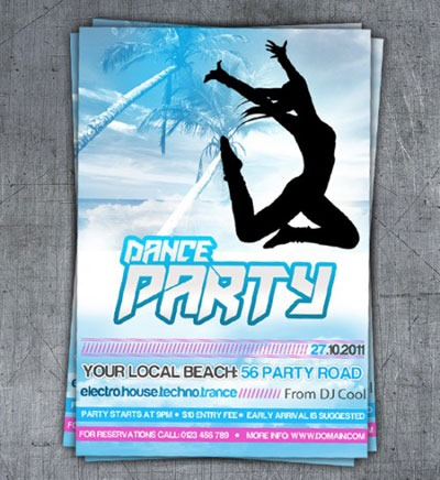 dance-party-poster-photoshop