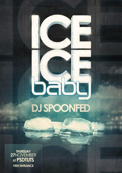 ice-cold-poster-with-3d-text