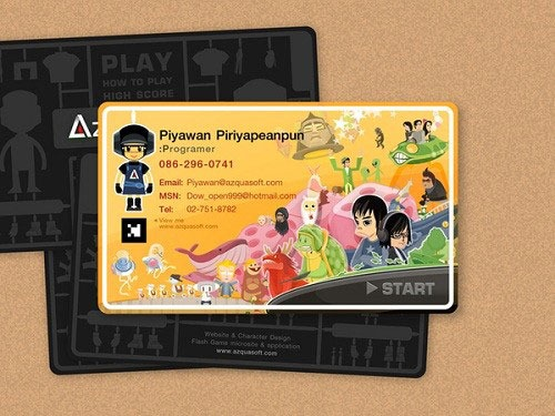 21 cartoon business cards that are too cute for words artfans design remember that a cute business card design alone is not enough to make your cards effective once youre done with the design choose a reliable business colourmoves Image collections