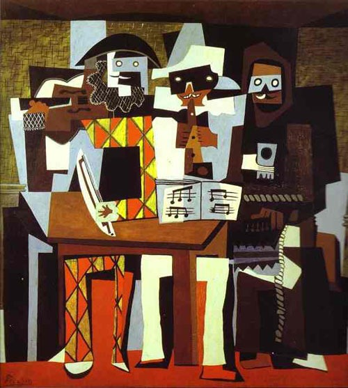 Pablo-Picasso-Art-Musicians-in-Masks