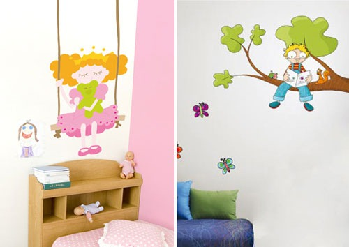 Creative-Funny-Kids-Wall-Stickers-Design-Ideas
