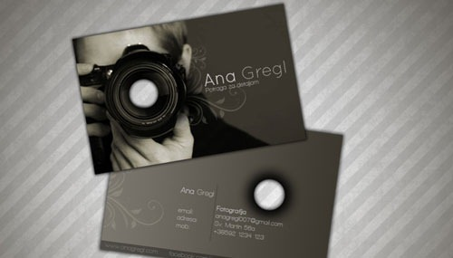37 inspirational designs of photography business cards artfans ana gregl business card reheart Images