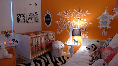 baby-nursery-girlie-orange-modern-hip