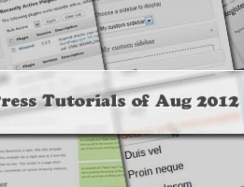 10+ Best WordPress Tutorials of Aug 2012