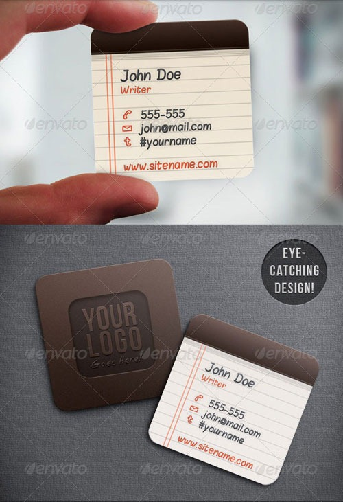 Notepad-Mini-Squared-Business-Card