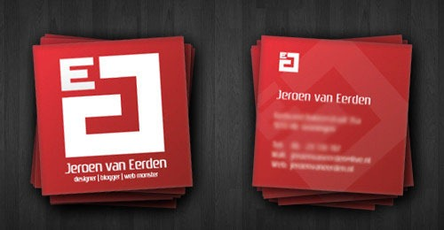 20 example of square business cards designs to inspire you artfans jeroen vaneerden square business card reheart Images