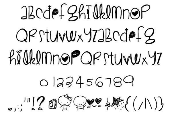 CuteLove-font