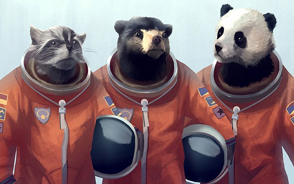 animals-panda-bears-artwork-bears-cosmonaut-raccoons-furry-fandom-furry-fresh-hd-wallpaper